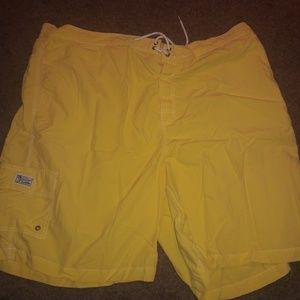 Yellow polo shorts